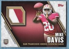 2015 Topps Football ~ Mike Davis ~ 49ers ~ Rookie Patch  ~ Player Worn ~  #TRPMD