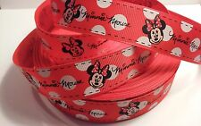 """Minnie Mouse Girl inspired 1"""" Red Grosgrain Ribbon - By The Yard - USA Seller"""