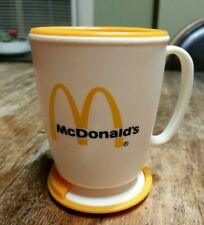 MC DONALDS VTG 80s Plastic Coffee Travel Mug Stick on Base WHIRLEY  USA
