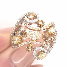 Round Cut Diamond Right-Hand Ring 2.02ct Fancy Color Marquise Pear and