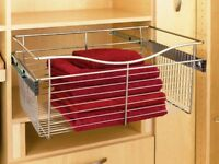 FIVE TRAY SET REV-A-SHELF DOOR STORAGE TRAY WHITE RS6235