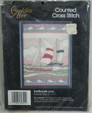 Golden Bee Cross Stitch Kit #60342 Sailboats