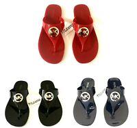 Women MK Michael Kors Lillie Jelly Thong Flat Slide Sandals PVC