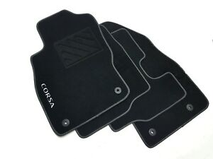 Tappetini Opel Corsa D dal 2006-  1 ricamo + clip + battitacco