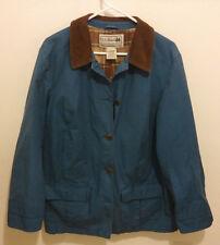 Vintage LL Bean Fall Jacket SIZE L Blue w/ Flannel Lining