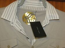 **LOOK** Stunning NEW Men's Casual Top ZARA For MEN Silver Sand UK Size Large