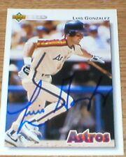 Luis Gonzalez Autographed Card