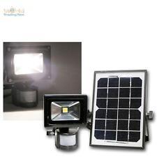 Solar LED Fluter mit Bewegungsmelder und Akku, Außen-Strahler 10W Highpower