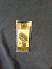 New York Giants vs. Denver Broncos Super Bowl XXI 22kt Gold Ticket (NEW)