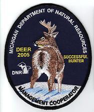2005 Michigan DNR erfolgreiche Deer Hunter Patch-Bär-Türkei-Elch - Moose-Angeln