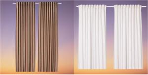 *New* TIBAST Room darkening curtains, 1 pair, dark red & Beige 145x250 cm *IKEA