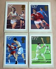 SPORTING ANNIVERSARIES 1980 SET 4 PHQ CARDS SIGNED COE, MAY, WILLIAMS & GILLBODY