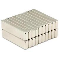 Neodym Magnet 40 x 10 x 5 mm Supermagnete hohe Haftkraft Quadermagnet - 10 Stück