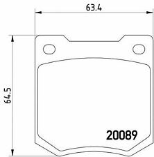 MGB535 M1144 MINTEX Brake Pad Set disc brake front