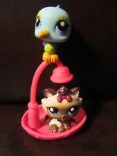 Littlest Pet Shop Hasbro Himalayan Cat Bird shower set 2143 2144 glitter