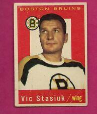 1959-60 TOPPS # 14 BRUINS VIC STASIUK  CARD (INV# 9658)