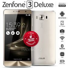 "Unlocked ASUS Zenfone 3 Deluxe Zs550kl Silver 5.5"" IPS LCD Android Mobile Phone"