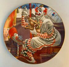 FELIX ADLER Greatest Clowns of the Circus 1982 Plate creepy scary vtg w/PIG xmas