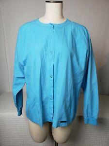 GUC Women's Baby Phat Scrub Jacket Teal Blue is XLSnaps Pockets Nursing Medical