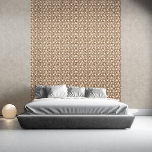 3D Feature Wallpaper Floral Leaf Petals Daisy Muriva Metallic Silver Copper Grey
