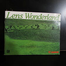 Canon FD Lens Wonderland Guide Book English 43 pages O401834