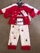 Mothercare Christmas Baby Pyjamas 2 Pairs Penguin Newborn New Baby Girl Boy
