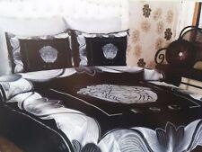 black/silver color 6pcs bedding set versace queen size