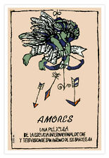 "Cuban decor Graphic Design movie Poster 4 film""AMORES""Cupid Amor. Love.ART"