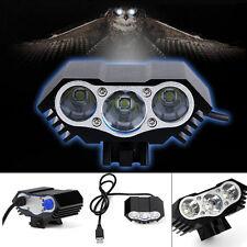 7500 Lumen 3X CREE T6 LED USB Bicycle Bike Light Headlight Headlamp Torch Front