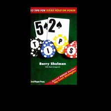 52 Tips for Texas Hold 'em Poker PAPERBACK BOOK Barry Shulman FREE SHIPPING