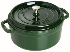 NEW Staub Basil Green Round Cocotte 18cm/1.7L