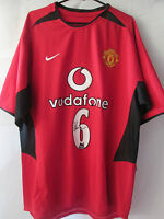 Wes Brown 02-04 Signed Manchester United Home Football Shirt with COA /11378