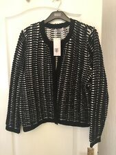 Marks And Spencers Per Una Black White Cardigan New Size  20