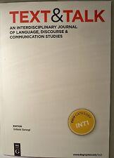 Text & Talk Paperback Language Journal 2013 #33 Number 1