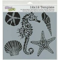 Sea Creatures Sealife Design Layering Stencil 12x12 for Home Decor Art & Crafts