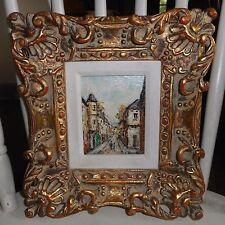 Vintage Oil Painting-PARIASIAN STREET SCENE-Listed Artist Louis Peyrat  France