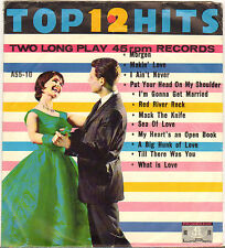 """DIVERS """"12 TOP HITS"""" POP ROCK AND ROLL DOUBLE 60'S EP PROMENADE A-55-10"""