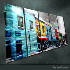Original Citiscape Metal Wall Art Abstract Special Indoor Outdoor Decor-Zenart