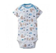 Gerber Baby Boy 1-Piece Blue Camping Bears Onesie Size 12M