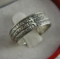 925 Sterling Silver Ring Band US Size 8 Hail Mary Ave Maria Inscription Text 711
