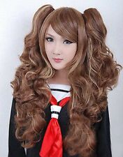 Lolita light brown Long Wavy Ponytail Curly Cosplay Wig