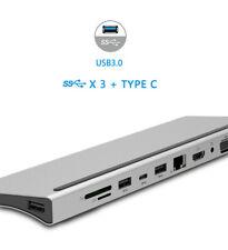 Docking station USB 3.0 Adapter Reader RJ45 4K HDMI VGA audio SD/TF for MacBook
