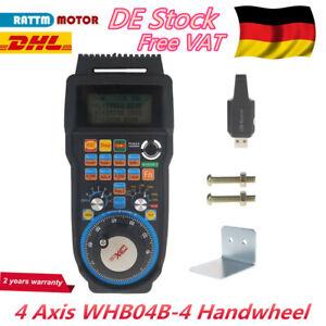 「AT DE」4 Achsen Mach3 Drahtloses Handrad MPG Pendant CNC Router Handwheel WHB04B
