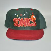 Seattle Sonics Supersonics Basketball Logo 7 Vintage KIDS Snapback Cap Hat - NWT