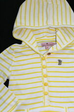 JUICY COUTURE Sweet Yellow White Hoodie Tunic Top Girl Size 4
