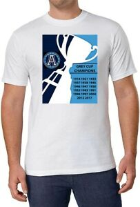 CFL Toronto Argonauts Grey Cup Champs White T-Shirt 100% Cotton men sz XL NEW