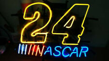 "Nascar 24 Racing Number Light Neon Sign Beer Bar Gift 17""x14"" Lamp Man Cave"