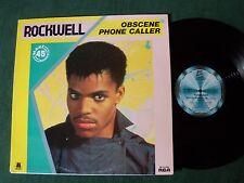 "ROCKWELL: Obscene phone caller 12"" MAXI 45T 1984 French pressing MOTOWN ZC 61386"