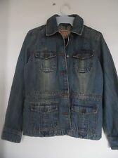 AEROPOSTALE Denim Distressed Blue Jean Jacket Coat Size Small