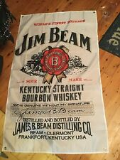 jim beam flag 5 x 3 foot mancave art or bar  bourbon pool room sign man cave